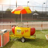 """Hot Diggity"" Hotdog Cart Rental Miami"