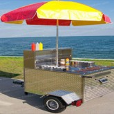 Traditional Hot Dog Cart Rental Miami