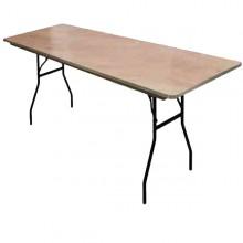 8FT Rectangular Table Rental Miami
