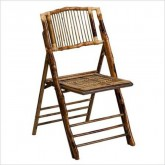 Brown Bamboo Folding Chair Rental Miami