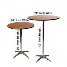 Inch High Top Pedestal Table Rental In Miami - High top pedestal table