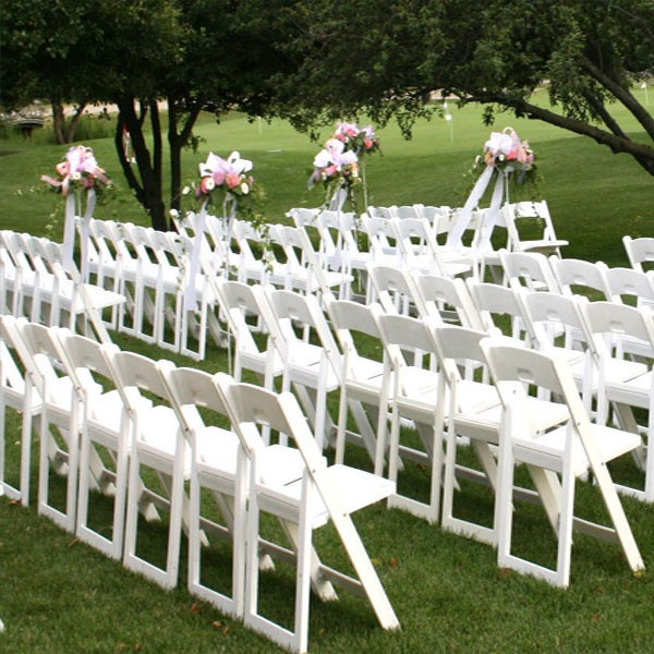 ... White Wood Padded Folding Chair