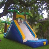 16'Ft Water Slide with Pool