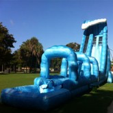 27'Ft Blue Crush Slip & Slide w/ Pool Rental Miami