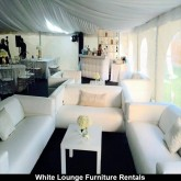 White Leather Couch Rental
