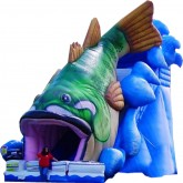 33'Ft 3D SeaBass Inflatable Slide