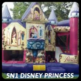 Disney Princess Bounce House and Slide Rental Miami
