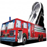 22'Ft 3D Fire Truck Inflatable Slide